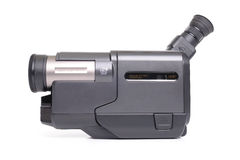 Analogue camcorder. Portable analogue Hi-8 camcorder over white background royalty free stock photography
