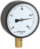 Analogue metal manometer Stock Image