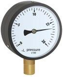 Analogue metal manometer Stock Image