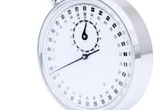 Analogue metal stopwatch. On the white background Stock Photo