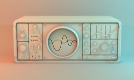 Analogue oscilloscope. Royalty Free Stock Photography
