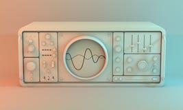 Analogue oscilloscope. Royalty Free Stock Photography