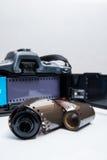 Analogue reflex camera Stock Photo