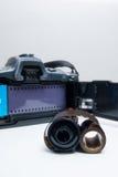 Analogue reflex camera Royalty Free Stock Photography