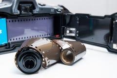 Analogue reflex camera Stock Images