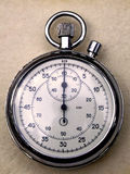 Analogue stopwatch. Precision retro pocket analogue chronograph stopwatch Royalty Free Stock Photo