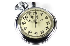 Analogue stopwatch Royalty Free Stock Image