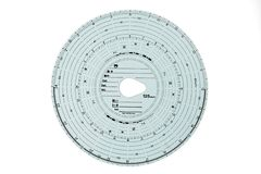 Analogue Tachograph disc. On white background Stock Images