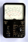 Analogue Test Meter. An analogue test meter used for testing electronic circuits stock images