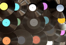 Analogue vinyl records background Royalty Free Stock Images
