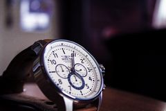 Analogue wristwatch Royalty Free Stock Images