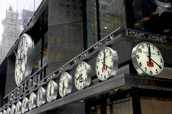 analoguen clocks nycvärlden Royaltyfri Foto