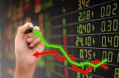Analys av aktiemarknaden royaltyfri fotografi