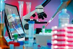 Analys av DNA Arkivfoton