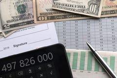 Analys av ekonomiska indikatorer royaltyfria bilder