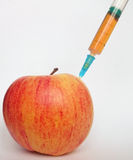 Analys av ett äpple royaltyfria foton