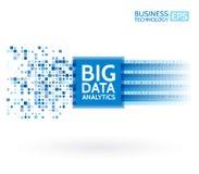 Analys av information Data som bryter visualization Abstrakt digital information om sortering Algoritmer för binär kod Royaltyfri Foto