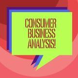 Analys för affär för konsument för textteckenvisning Begreppsmässig information om foto på målmarknaden s är mot efterkrav behov  stock illustrationer