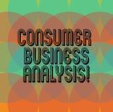 Analys för affär för konsument för textteckenvisning Begreppsmässig information om foto på målmarknaden s är mot efterkrav behov royaltyfri illustrationer