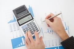 Analys för affärsrapport Arkivbilder
