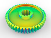 Analys för begränsad beståndsdel på en kugge vektor illustrationer