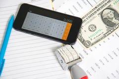 Analys för finansiell redovisning Arkivbilder