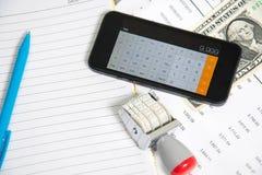 Analys för finansiell redovisning Fotografering för Bildbyråer
