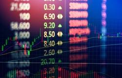 Analys för utbyte för aktiemarknad för volymljusstakegraf/indikatorhandelgraf royaltyfri illustrationer