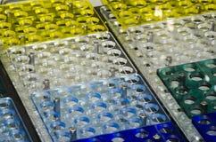 Analysatorkomponenten - Labor Stockbilder