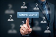 Analyse de client Images stock