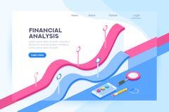Analyse de concept financier d'administration illustration libre de droits