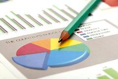Analyse de données commerciales Photographie stock libre de droits