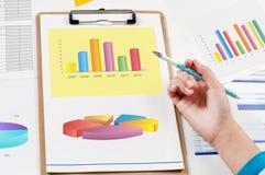 Analyse de données financières Photos stock