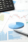 Analyse de données financières Photo stock