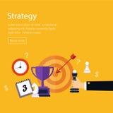 Analyse de données, planification de stratégie et réussi Image stock