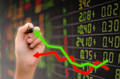 Analyse de marché boursier Photographie stock libre de droits