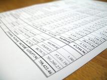 Analyse de papier de compte de rendement de l'entreprise Photo libre de droits