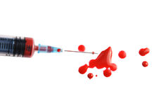 Analyse de sang Image stock