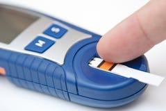 Analyse de sang de niveau de glucose Images libres de droits