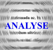 Analyse Definition Represents Data Analytics And Analysis Stock Photography