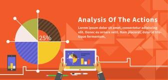 Analyse des actions Infographic illustration de vecteur