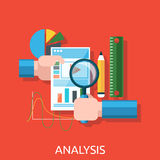 Analyse des actions Infographic illustration stock