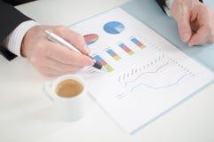 Analyse des graphiques de gestion Photo libre de droits
