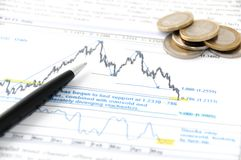 Analyse des marchés Images stock