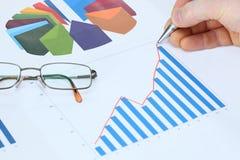 Analyse des marchés photos stock