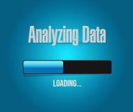 Analyse du concept de barre de progrès de chargement de données Image stock