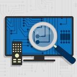 Analyse du matériel de Smart TV Images libres de droits