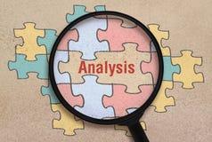 Analyse et puzzle de Word photo libre de droits