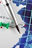 Analyse et repère des affaires en Chine orientale Photo libre de droits