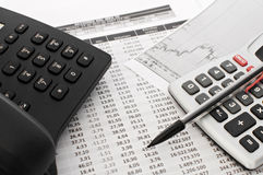 Analyse financière Photographie stock